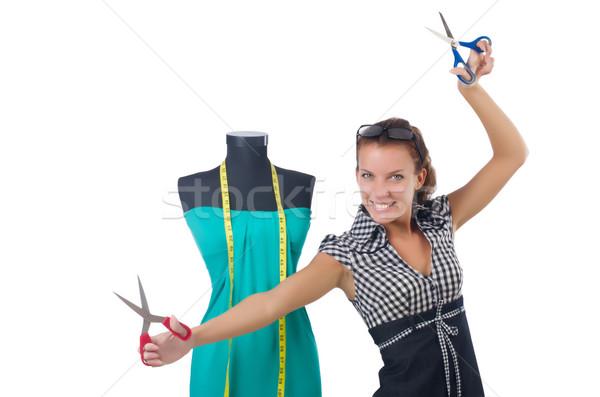 Vrouw kleermaker werken witte mode werk Stockfoto © Elnur