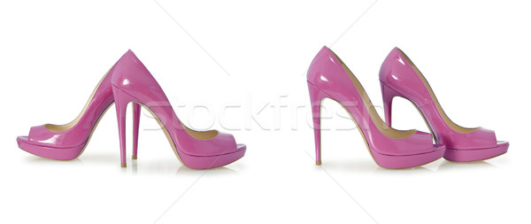 Set of woman shoes isolated on the white Stock photo © Elnur