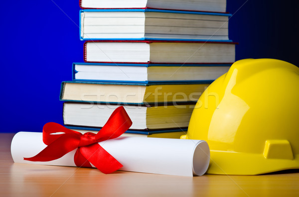 Concept of industrial education with hard hat Stock photo © Elnur
