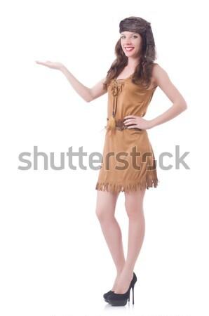 女性 魅力的な ドレス 孤立した 白 少女 ストックフォト © Elnur