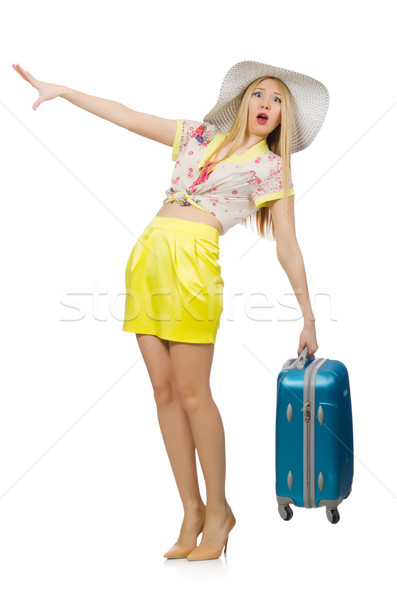 Viajar férias bagagem branco menina feliz Foto stock © Elnur