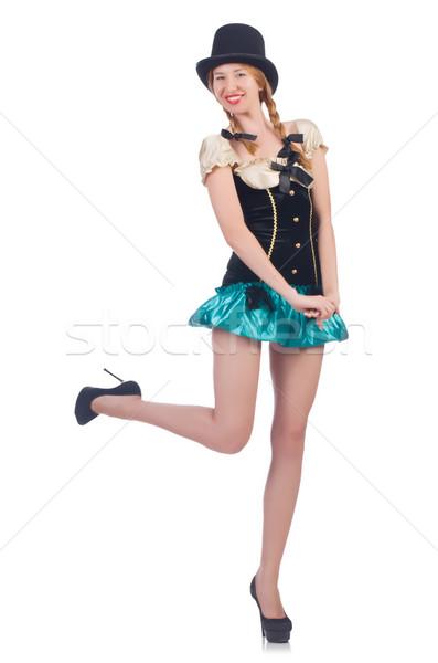 Donna moda abbigliamento felice bar vestiti Foto d'archivio © Elnur
