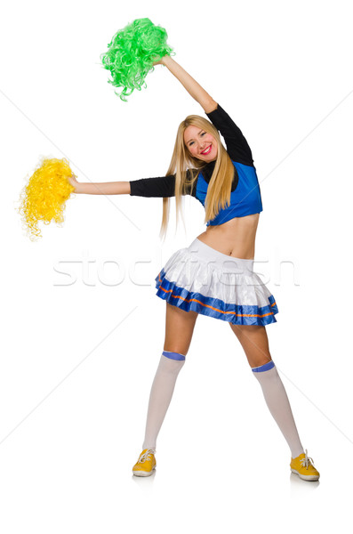 Woman cheerleader isolated on the white Stock photo © Elnur