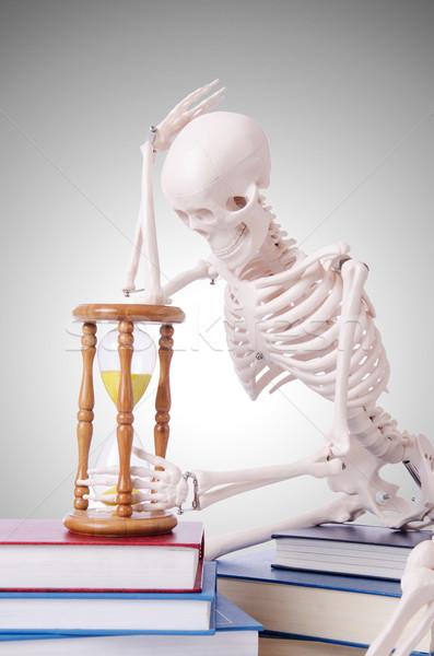 Csontváz olvas könyvek gradiens könyv férfi Stock fotó © Elnur