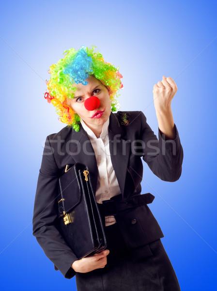 женщину клоуна бизнеса костюм вечеринка работу Сток-фото © Elnur