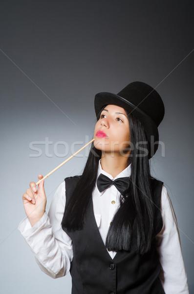 Mulher mágico engraçado menina retro seis Foto stock © Elnur