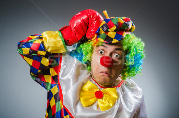 Divertente clown comico finestra triste divertimento Foto d'archivio © Elnur