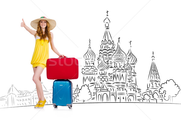 туризма Россия девушки счастливым моде Сток-фото © Elnur