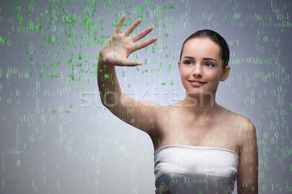 Young woman in digital concept Stock photo © Elnur