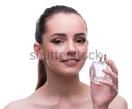 Nő gyönyörű smink kezek kéz arc Stock fotó © Elnur