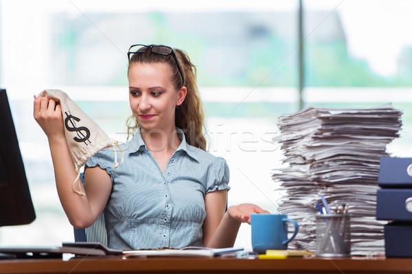 деловая женщина деньги служба бизнеса работу контроля Сток-фото © Elnur