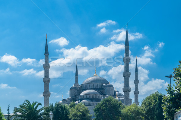 Famous mosque in turkish city of Istanbul Stock photo © Elnur