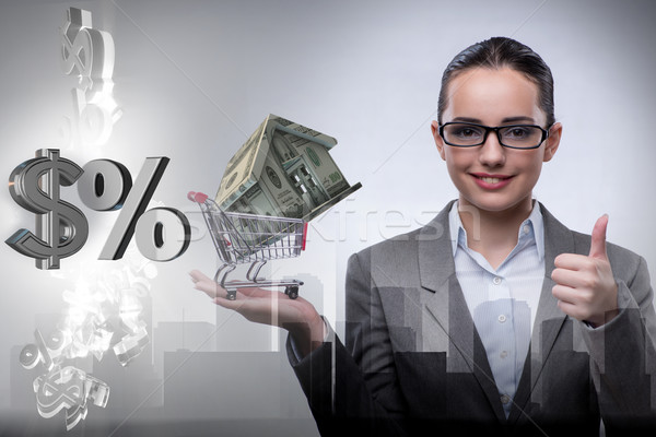 Сток-фото: деловая · женщина · недвижимости · ипотечный · бизнеса · женщину · служба
