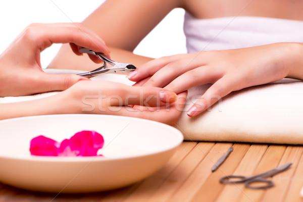 Fiatal nő szög kezelés orvosi nő kezek Stock fotó © Elnur