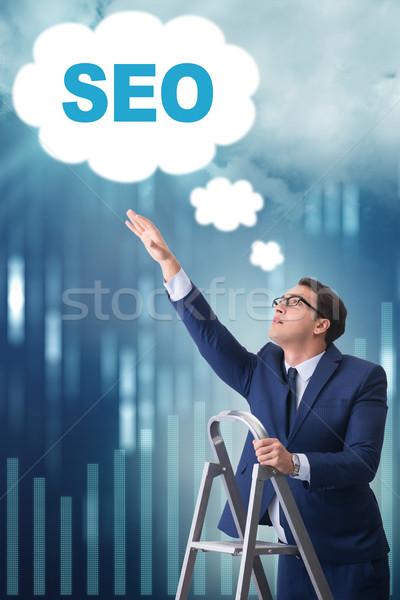 Zakenman seo internet netwerk web Stockfoto © Elnur