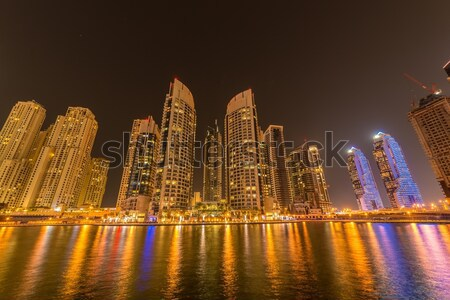Dubai - JANUARY 10, 2015: Marina district on January 10 in UAE, Dubai. Marina district is popular re Stock photo © Elnur