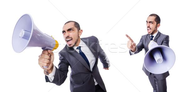 Jeunes affaires haut-parleur blanche affaires bureau Photo stock © Elnur