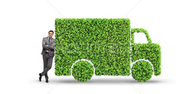 The electric car concept in green environment concept Stock photo © Elnur