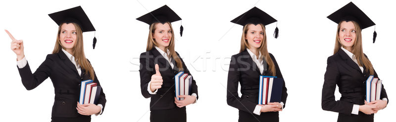 Young graduate isolated on white Stock photo © Elnur