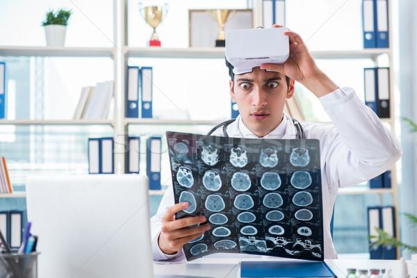 врач рабочих виртуальный реальность очки медицинской Сток-фото © Elnur