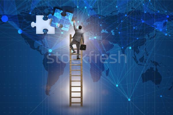 Biznesmen wraz sztuk człowiek pracy Zdjęcia stock © Elnur