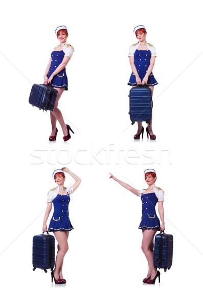 Nő nyári vakáció arc szexi boldog nyár Stock fotó © Elnur