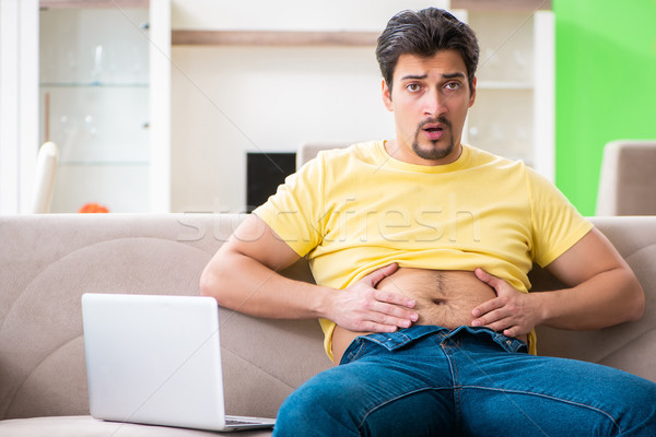 Young fat man in dieting concept  Stock photo © Elnur