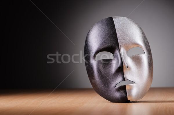 Mask against the dark background Stock photo © Elnur