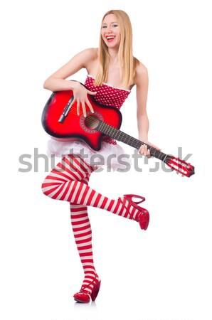 Anioł czerwony odzież biały uśmiech serca Zdjęcia stock © Elnur