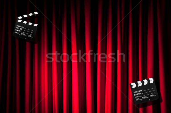 фильма совета занавес фон искусства промышленности Сток-фото © Elnur