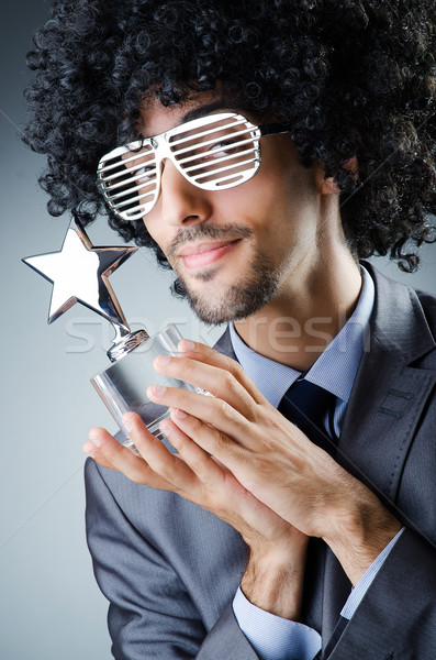 Singer receiving star prize award Stock photo © Elnur