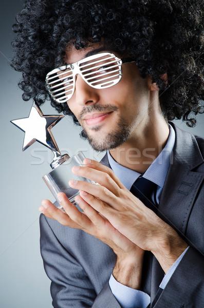 Piosenkarka star nagrody nagrody strony człowiek Zdjęcia stock © Elnur