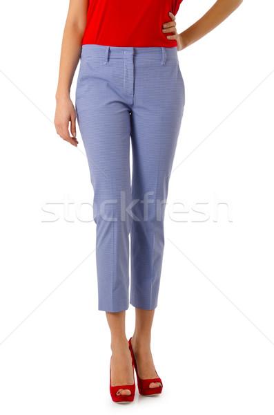 Broek geïsoleerd witte model achtergrond jeans Stockfoto © Elnur