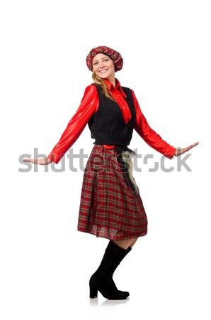 Człowiek diabeł czerwony kostium uśmiech sexy Zdjęcia stock © Elnur