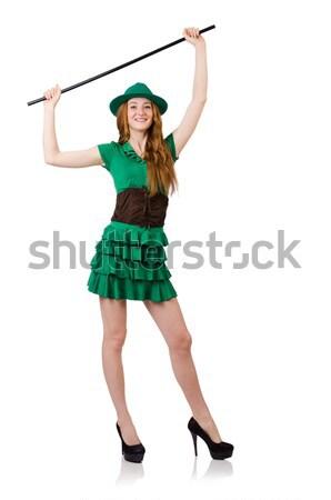 Kadın aziz kız dans dans yeşil Stok fotoğraf © Elnur