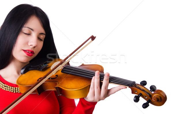 女性 演奏 バイオリン 孤立した 白 コンサート ストックフォト © Elnur