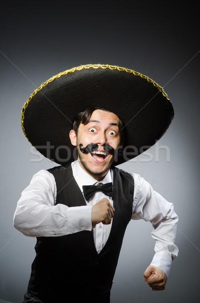 Mexicano homem engraçado cara feliz retro Foto stock © Elnur