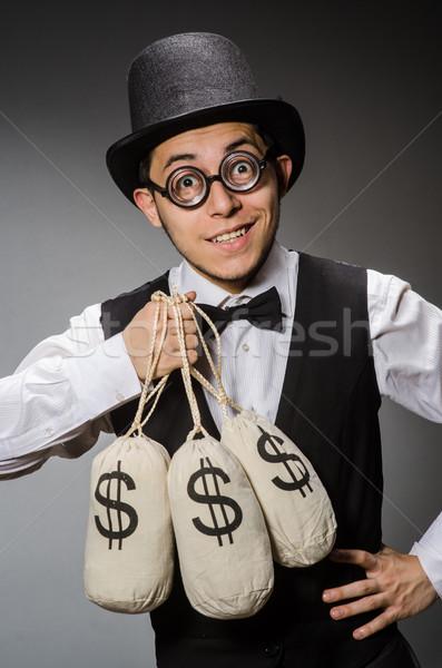 Man with sacks of money Stock photo © Elnur