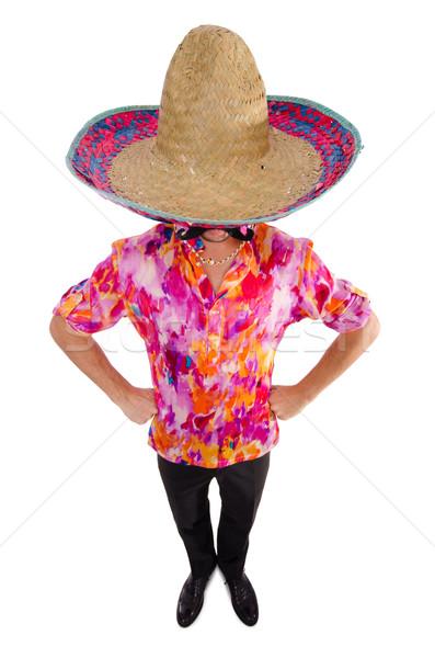 Divertente mexican sombrero Hat party uomo Foto d'archivio © Elnur
