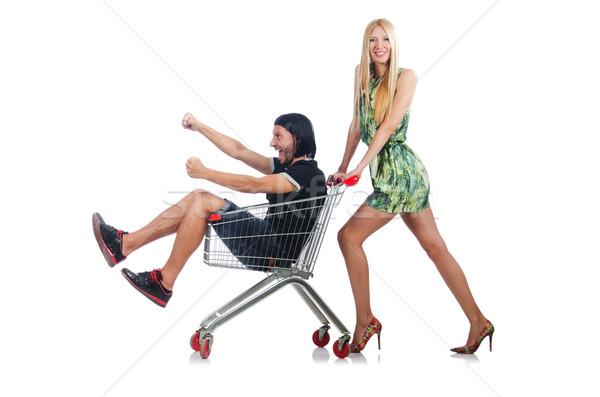 Photo stock: Famille · heureuse · paire · femme · mari · Shopping · femme