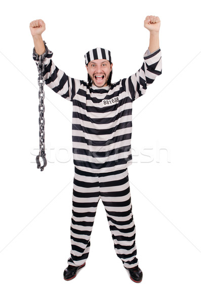 Prisão internado isolado branco bola liberdade Foto stock © Elnur