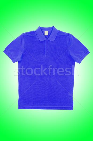 Homme tshirt isolé blanche Shopping bleu Photo stock © Elnur