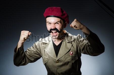 Man safari hoed jacht afrika persoon Stockfoto © Elnur