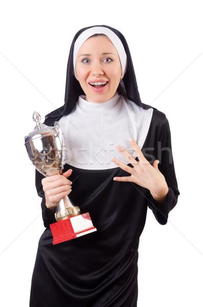 Bella suora vincitore Cup isolato Foto d'archivio © Elnur