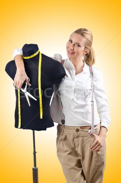 Kobieta krawiec pracy sukienka moda pracy Zdjęcia stock © Elnur