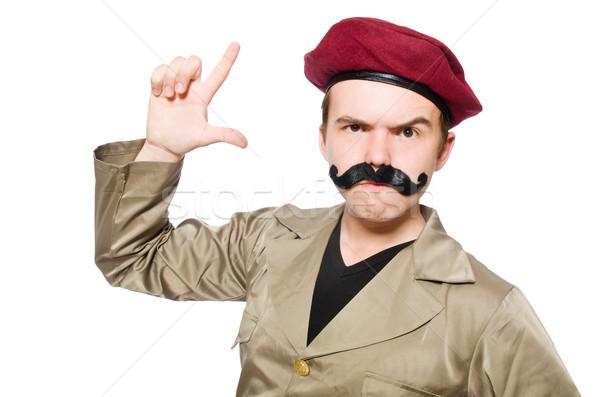 Engraçado soldado militar mão homem fundo Foto stock © Elnur