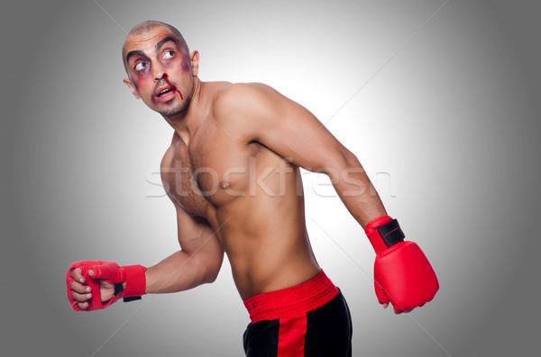 Vesztes boxoló izolált fehér kéz sport Stock fotó © Elnur