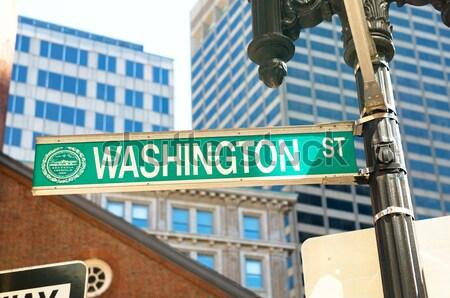 Placa de rua broadway brilhante dia assinar viajar Foto stock © Elnur