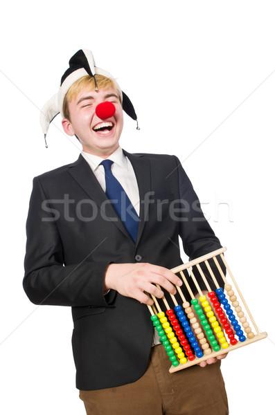 Clown boulier isolé blanche affaires fête Photo stock © Elnur