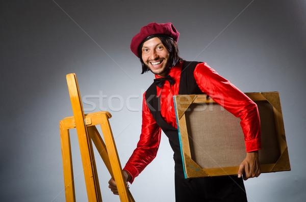 Man kunstenaar kunst frame leuk borstel Stockfoto © Elnur